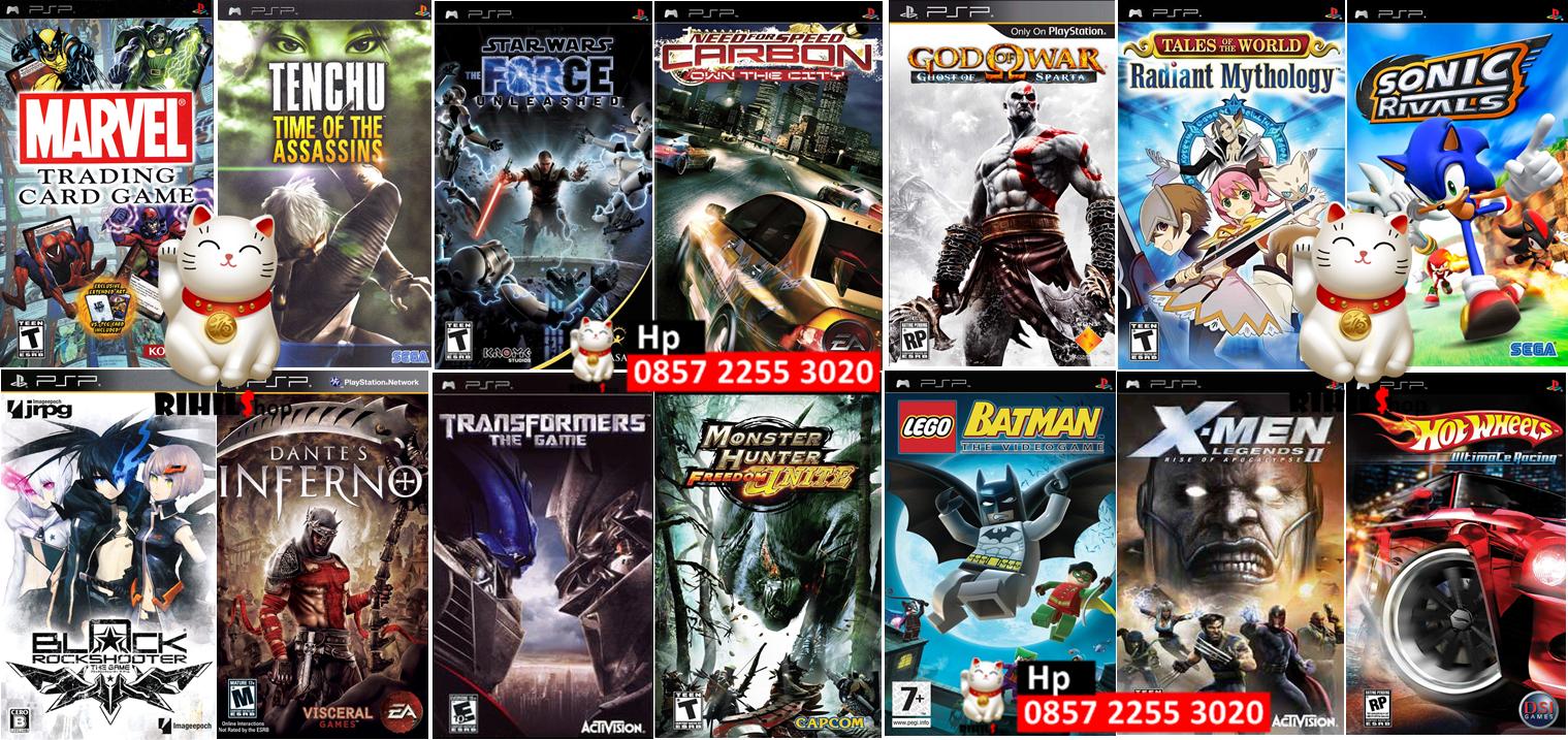Rihils Jual Kaset Game PSP Untuk Dimainkan Di PC Atau Laptop