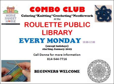 Every Monday at Roulette Library