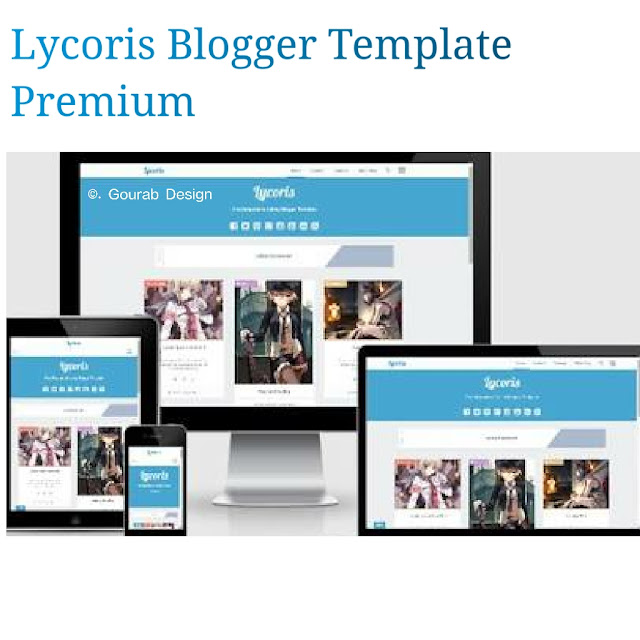 Lycoris blogger template