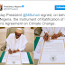 President Buhari signs ratification of the Paris Agreement on Climate Change