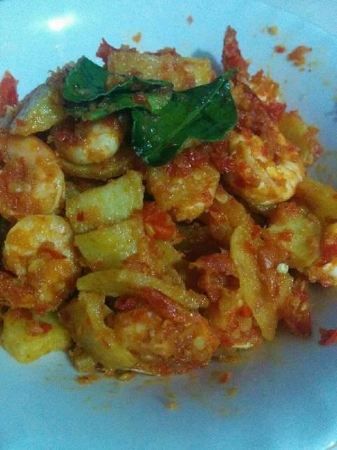 Resep balado kentang udang ala rumah makan ciwidey
