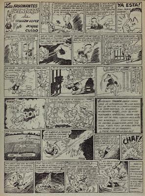Las fascinantes aventuras de Tallarin Lopez, Pulgarcito nº 38(1947)