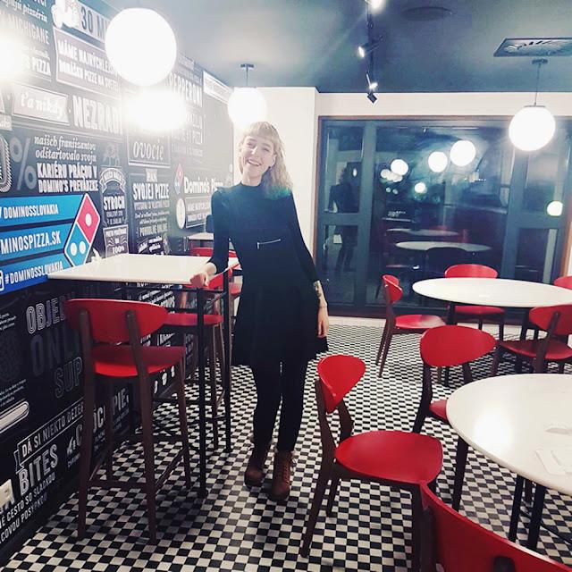 Pizza Domino funguje aj na Krížnej ulici.