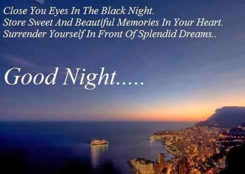 good night sms photo