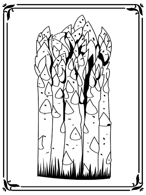 printable asparagus coloring pages