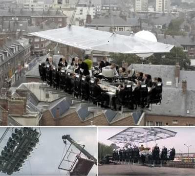 restaurant melayang di udara dan jadi restaurant ter unik di dunia