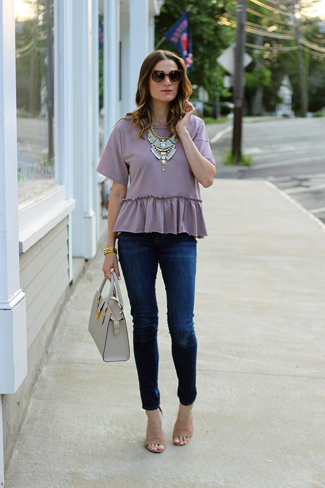 budget friendly peplum top