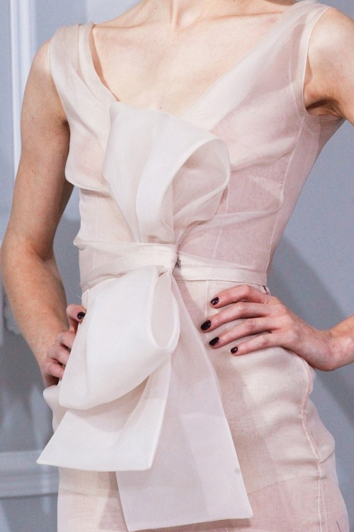 runway details: pretty bow dress Christian Dior Haute Couture S/S 2012