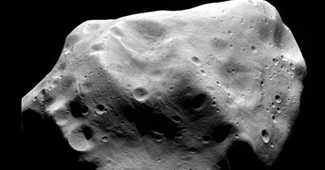 Craters on the surface of the asteroid 21 Lutetia. Credit: ESA