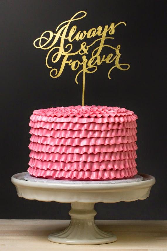 always & forever cake topper