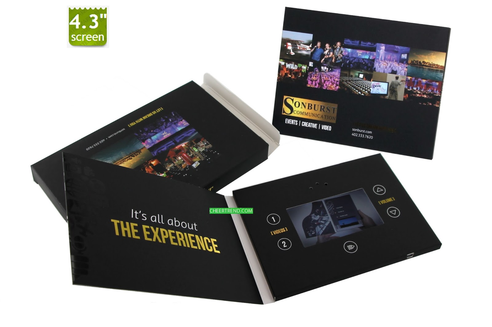 Video Brochure Video Greeting Card Fashional 43 Inch Video