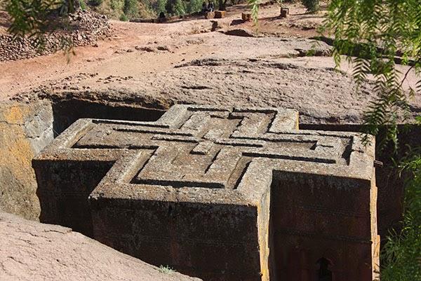 Iglesia rupestres de Lalibela en Etiopía