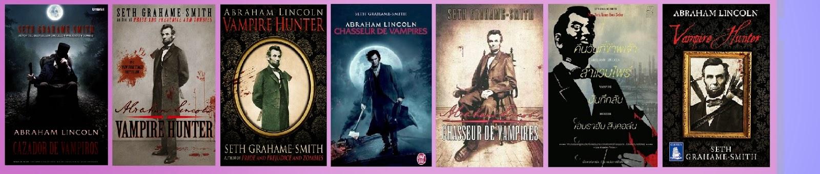 portadas de Abrahan Lincoln cazador de vampiros