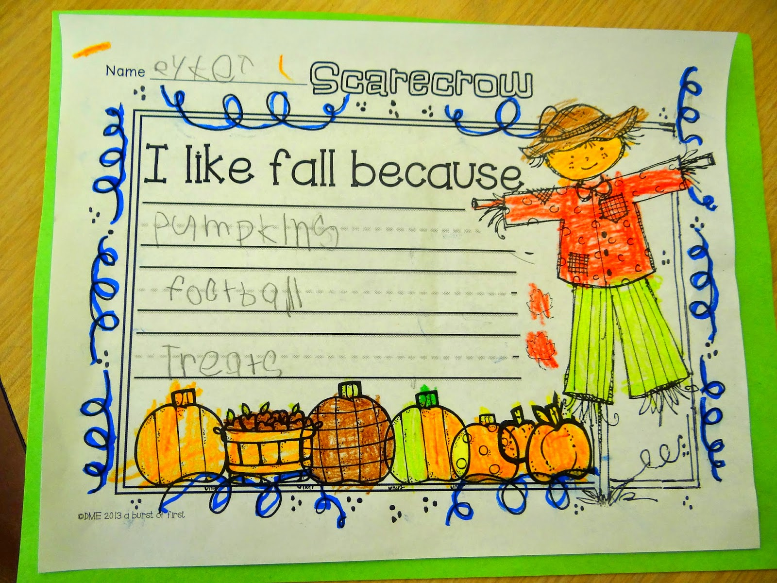 Patties Classroom Fall And Scarecrow Art And Writing Activities