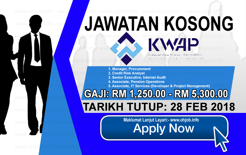 Jawatan Kerja Kosong Kumpulan Wang Persaraan - KWAP logo www.ohjob.info februari 2018