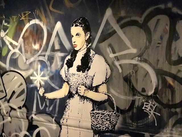 Dorothy in Amsterdam via Banksy