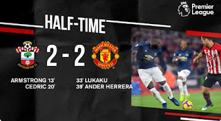 HT: Southampton vs Manchester United 2–2 Highlights