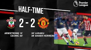 HT: Southampton vs Manchester United 2–2 Highlights