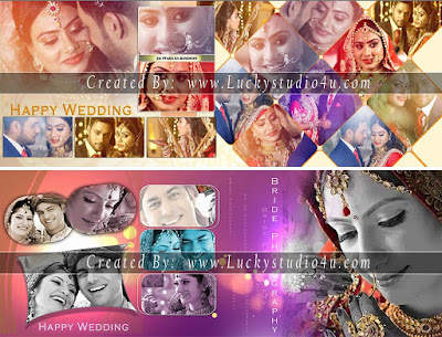 Professional Wedding Album Design 12x30 PSD Templates