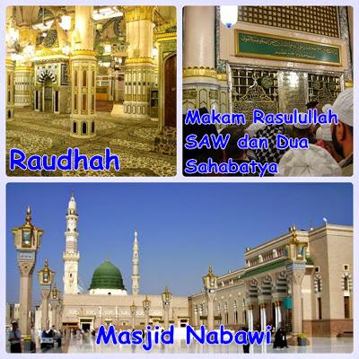 Berziarah ke makam Nab Muhammad SAW, Abu Bakar dan Umar bin Khattab