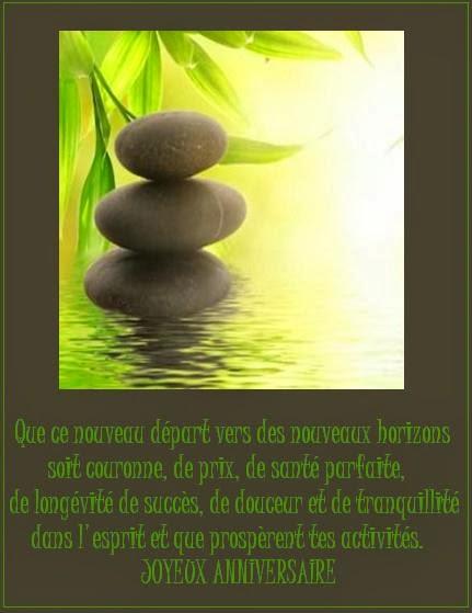 message anniversaire zen