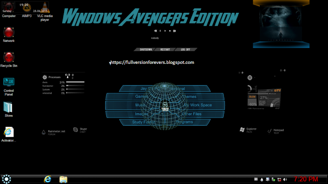 Windows 7 Avengers Edition X64 Free Download