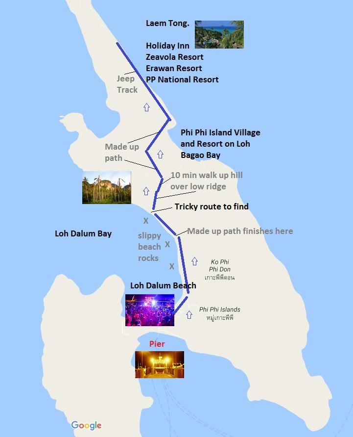The Phi Phi Beach Resort Map: RussellAbroad.. A Wondering Soul.: November 2016