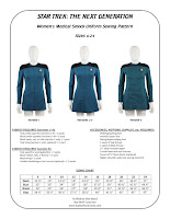 Star Trek TNG women's medical smock sewing pattern
