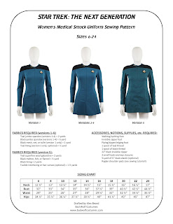 Women's TNG medical smock pattern