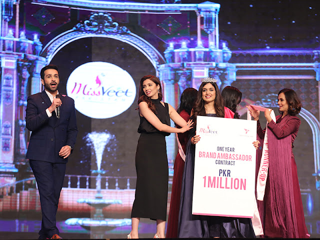 winner for Miss Veet 2017 Hira Khan  1 million pkr