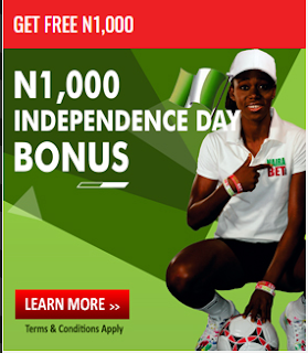 Nairabet Independence Day 1000 Free Bonus