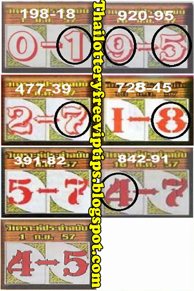 Thai lotto 3up touch 01-09-2014