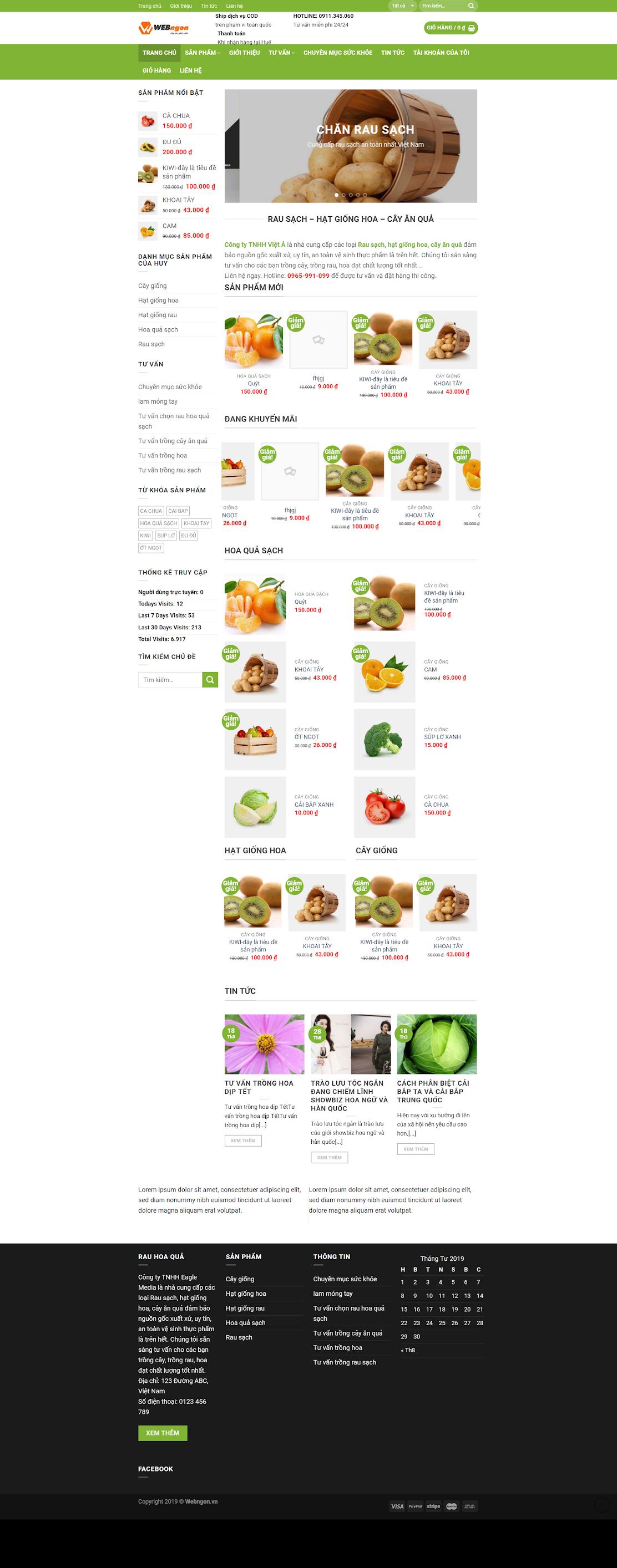 mẫu cung cấp thực phẩm nông sản wn036