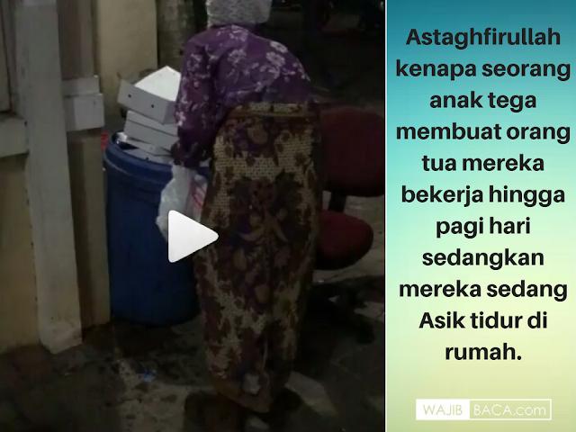 Nenek Tumirah, Jam 03.00 pagi Masih Mencari Nafkah Mengais Sampah