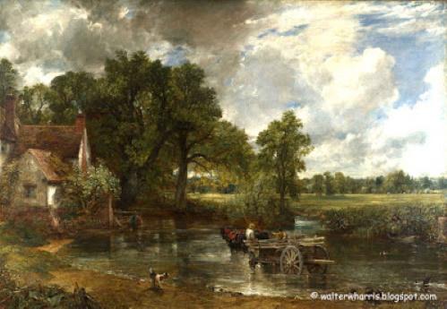 #PraCegoVer: A Carroça de Feno, pintura de John Constable.