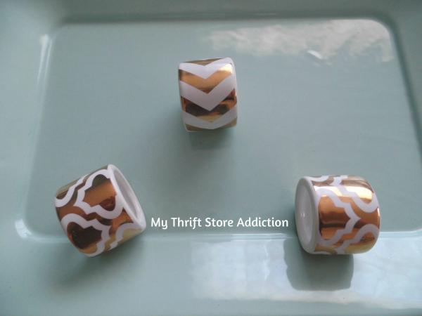Napkin Ring Mini Succulent Pots  mythriftstoreaddiction.blogspot.com Repurpose clearance napkin rings