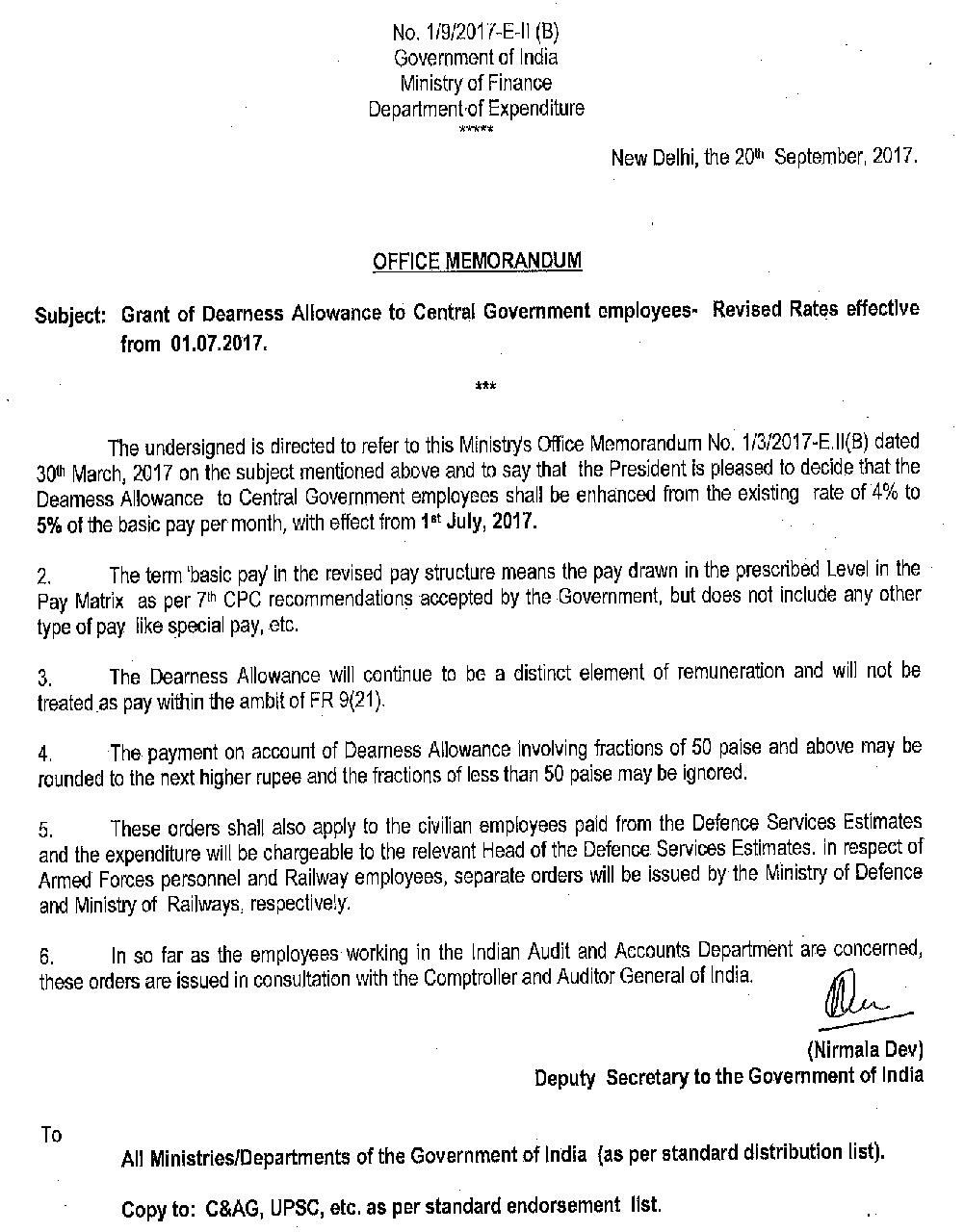 Dearness-Allowance-Central-Government-employees