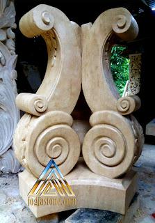 Kaki meja batu alam paras jogja/Batu putih