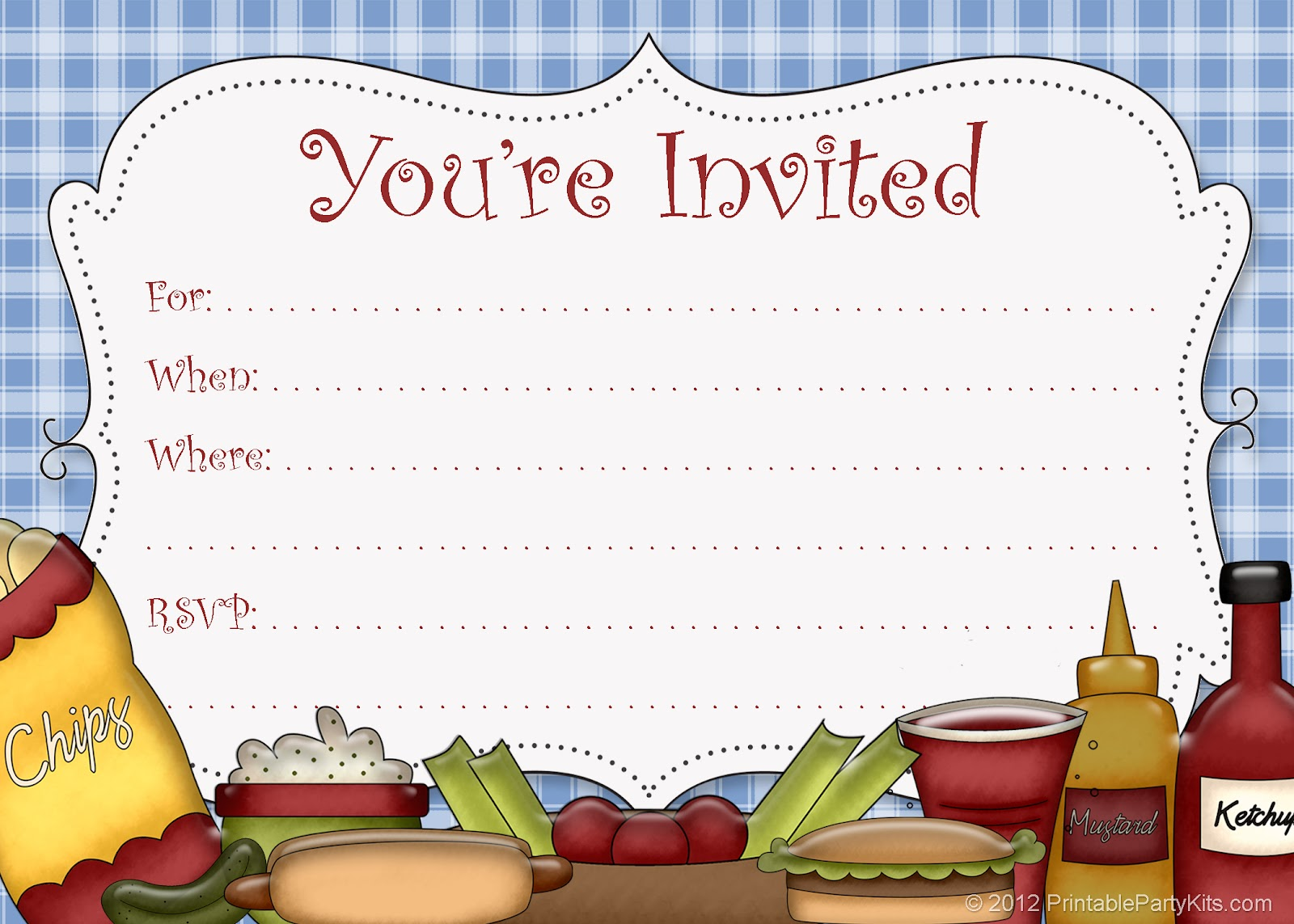 Free Printable Party Invitations Free Printable Picnic