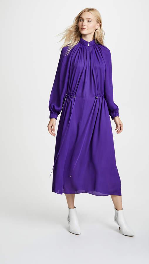 Tibi Drawstring Maxi Dress