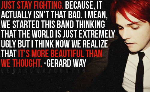 My Watercolor Romance: Just A Few Gerard Way Quotes :