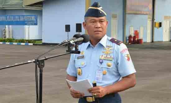 Komandan Lanud Supadio Marsekal Pertama (Marsma) TNI Minggit Tribowo, S.IP.  Sumber Siaran Pers Pangkalan TNI AU Supadio