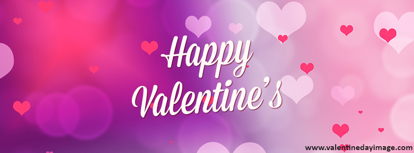 Valentine Facebook. Download This Cover Red Hearts Happy ...