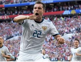 اسبانيا القوية خارج بطولة كأس العالم بعد فوز روسيا الغير متوقع