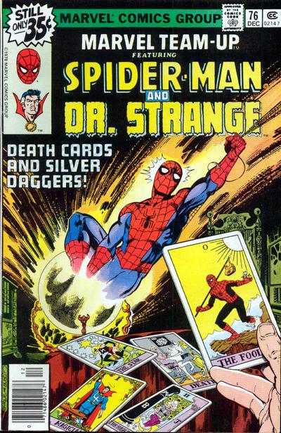 Tarot Superheroes Villains Other Comic Book Characters: Dave's Comic Heroes Blog: Spider-Man Meets Dr. Strange