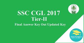 SSC CGL Tier 2 2017 : Final Answer Key Out