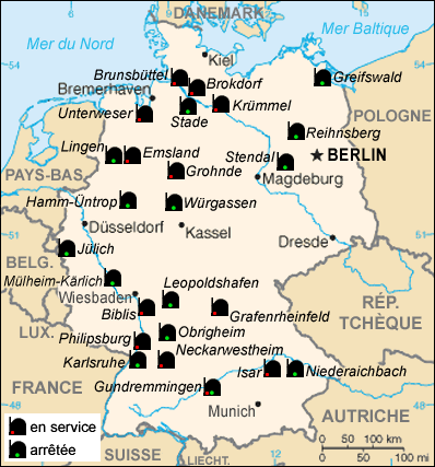 Map Of Germany S Natural Resources