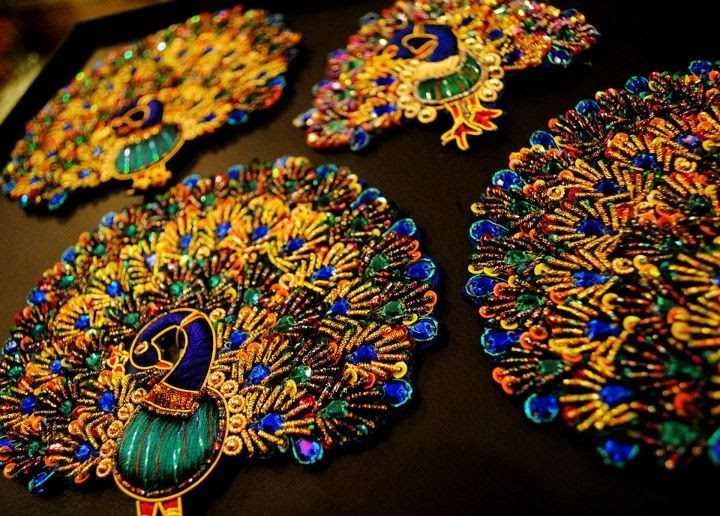 Necklines Amp Motifs Embroidery Designs By Braids Amp Buttons