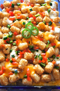 Kicked up Tater Tot Casserole: Savory Sweet and Satisfying
