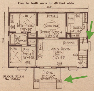 Sears Crescent smaller floor plan 1925 catalog